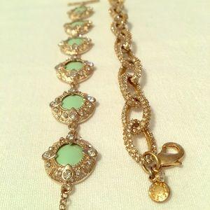 A pair of glitzy bracelets